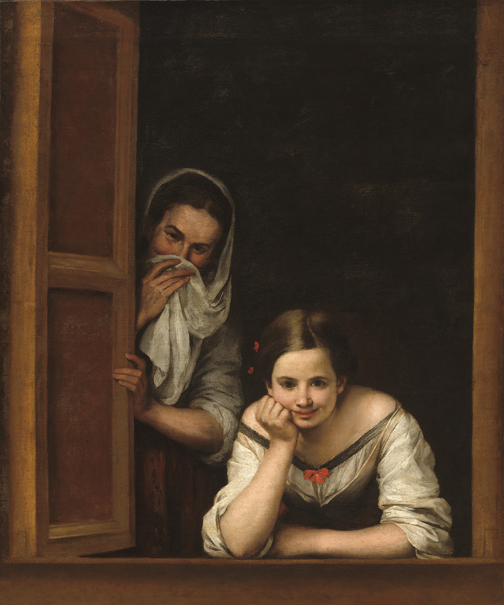 Bartolomé Esteban Murillo. Mujeres en el ventana. 1665-1675. National Gallery. Washington.