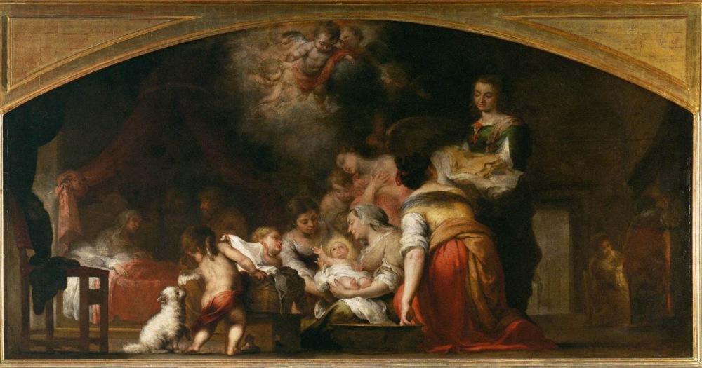 Bartolomé Esteban Murillo. Nacimiento de la Virgen. 1660. Museo del Louvre.