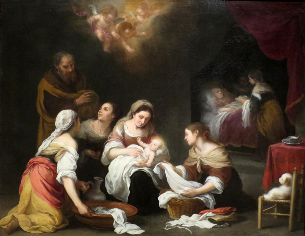 Bartolomé Esteban Murillo.Nacimiento de San Juan Bautista. Hacia 1655. Norton Simon Museum. Pasadena. EEUU.