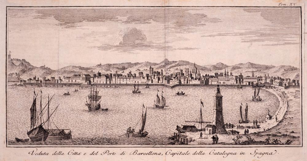 G. Albrizzi. El puerto de Barcelona. 1745. AHCB. Barcelona.