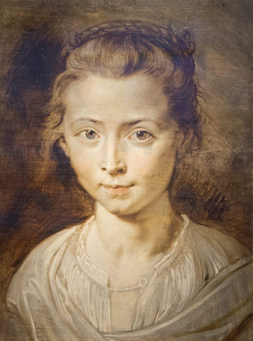 Peter Paul Rubens. Retrato de su hija Clara Serena Rubens. Colección particular.