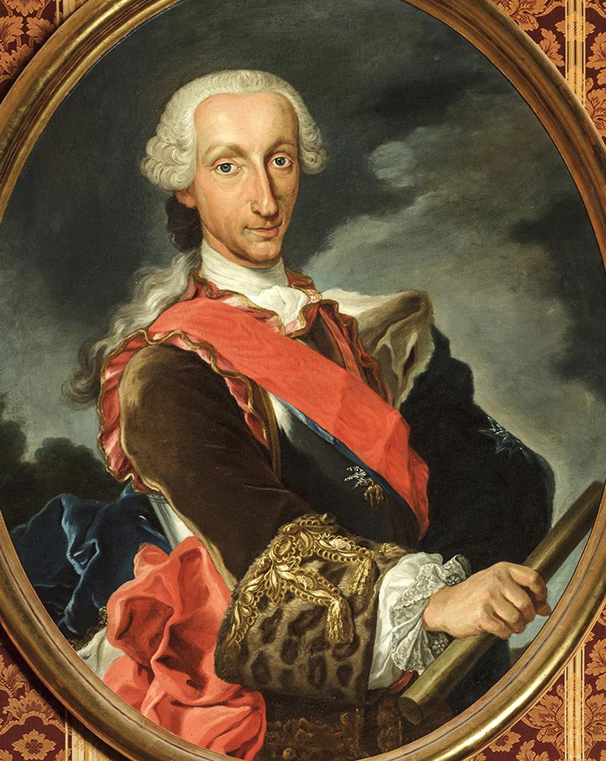 Atribuido a Juan de Espinal. Carlos III de España. Hacia 1759. Casa Consistorial de Sevilla.