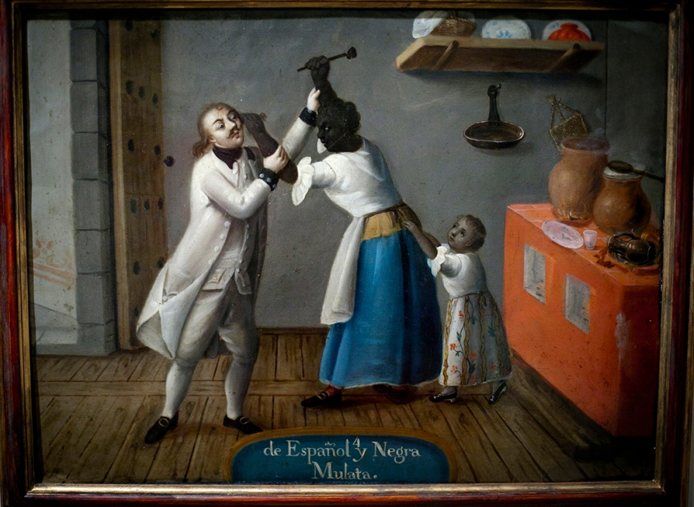 De español y negra mulata. Museo de América. Madrid.