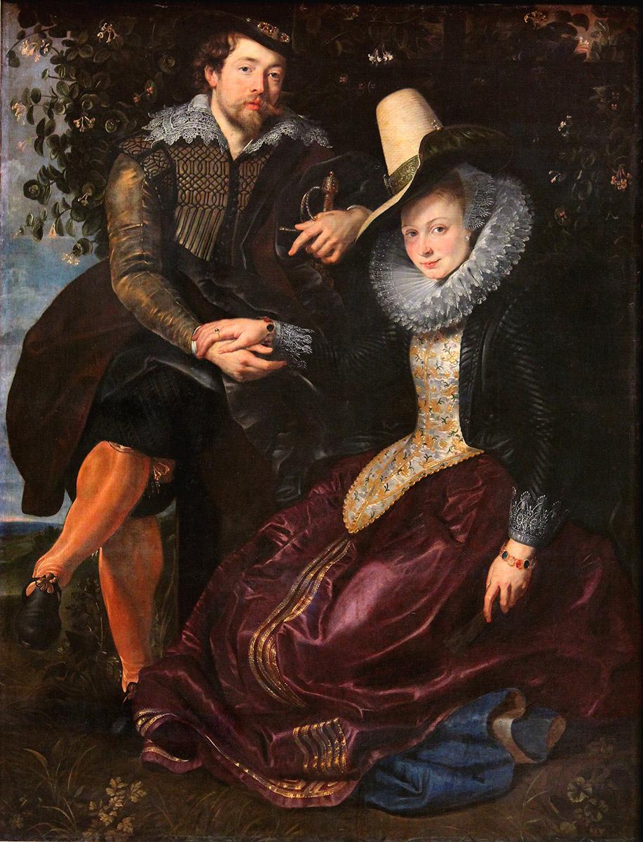 Peter Paul Rubens. Autorretrato con su esposa Isabel Brandt. Hacia 1609. Alte Pinakothek. Munich.