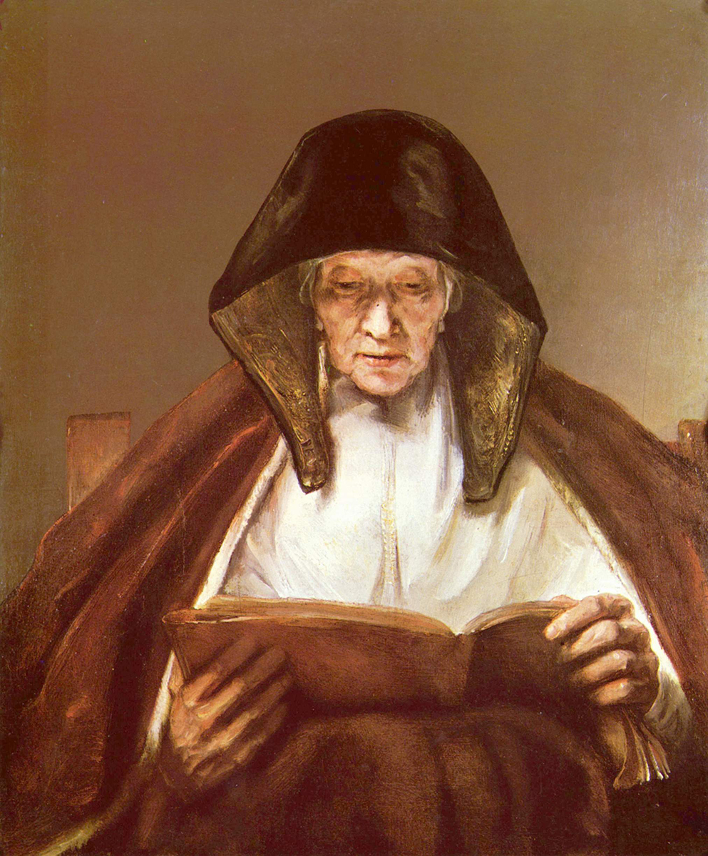 Rembrandt van Rijn. Mujer mayor leyendo. 1655. The Buccleuch Collection at Drumlanrig. Drumlaring Castle.