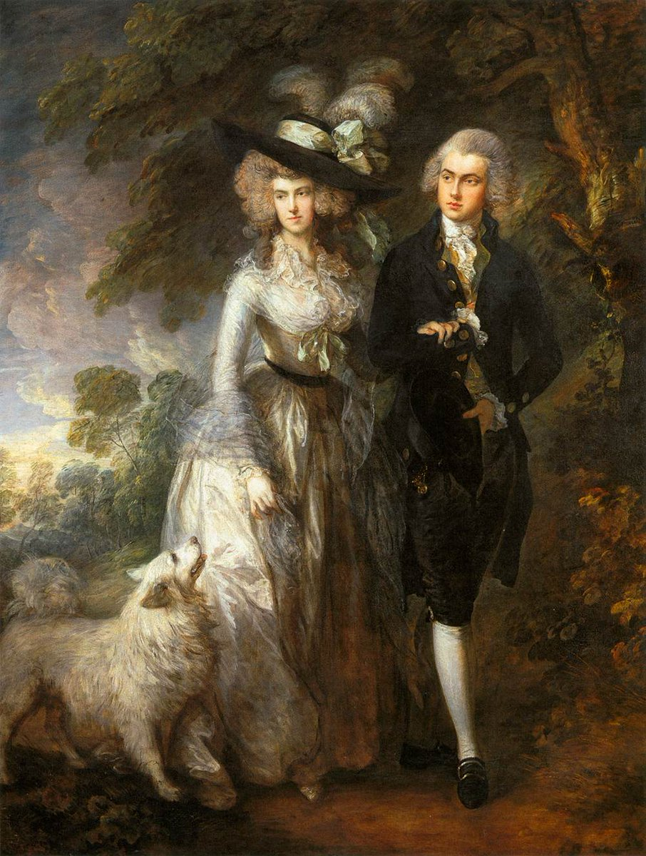 Thomas Gainsborough. El paseo matutino. 1785. National Gallery. Londres.