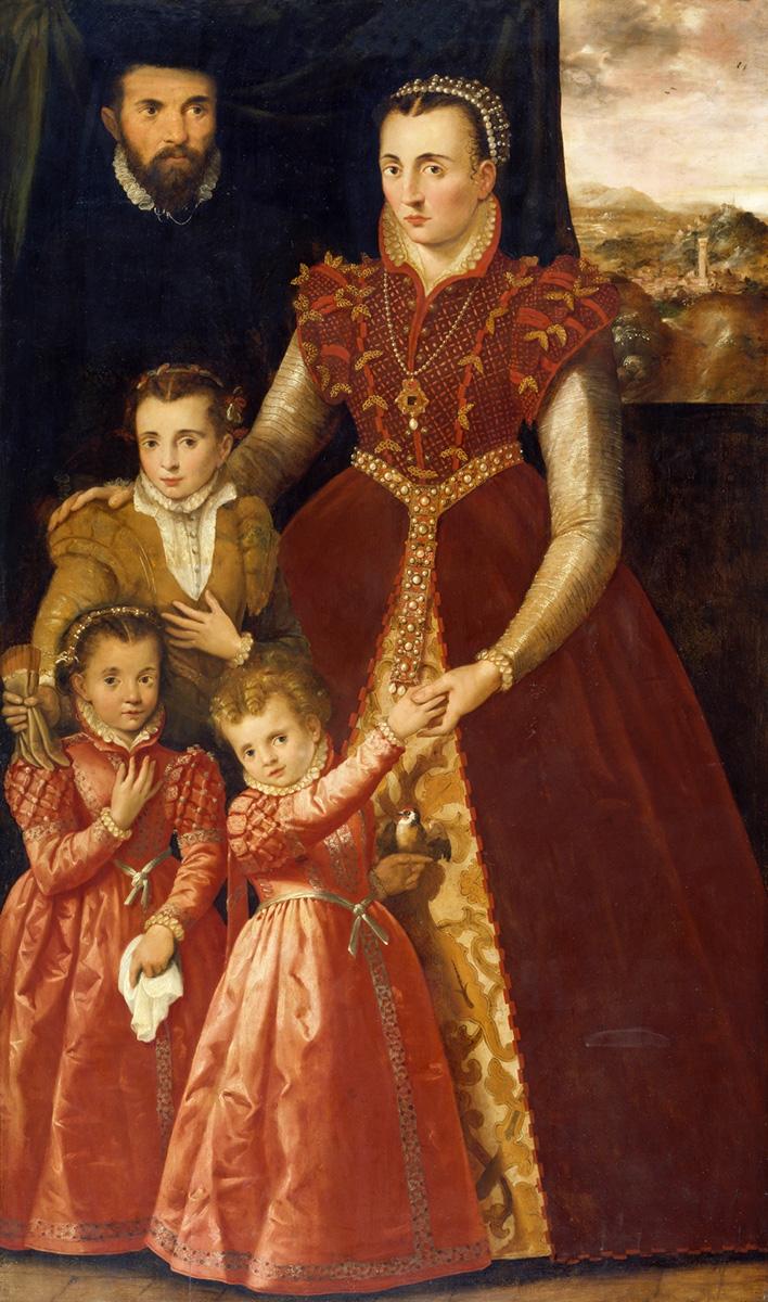 Anónimo. Retrato de dama con sus hijos. Siglo XVI. Museo Nacional del Prado.