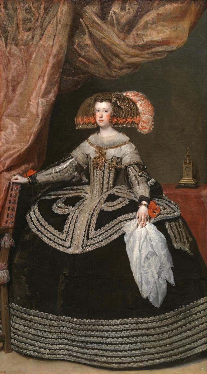 Diego Velázquez. Mariana de Austria. Hacia 1652. Museo Nacional del Prado.