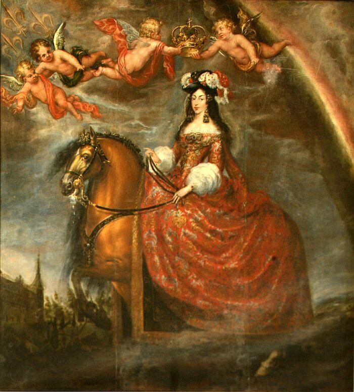 Francisco Ricci. Retrato ecuestre de la reina María Luisa de Orleans. 1679. Ayuntamiento de Toledo.