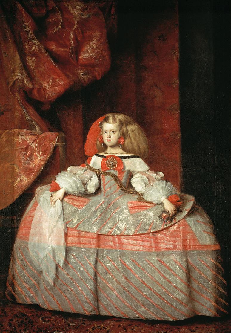 Juan Bautista Martínez del Mazo. La Infanta Margarita de Austria. 1660. Museo Nacional del Prado.