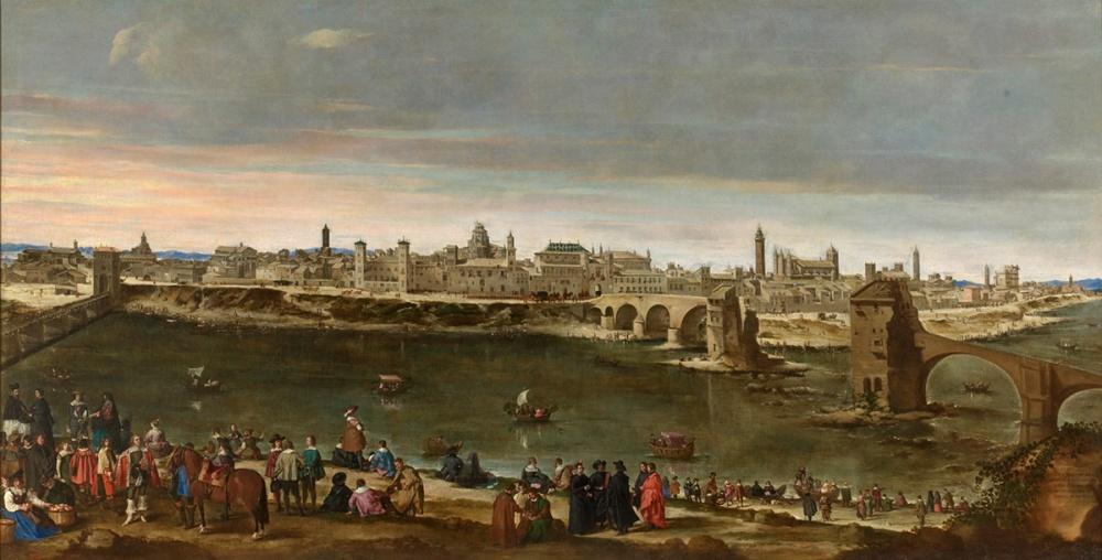 Juan Bautista Martinez del Mazo. Vista de Zaragoza. 1647. Museo del Prado.