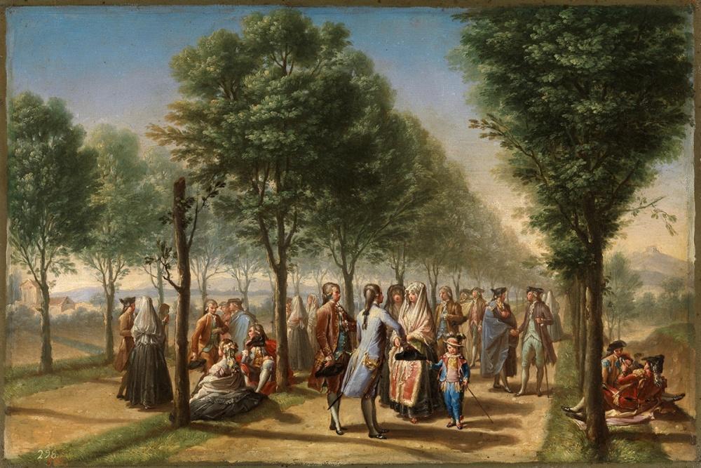 Ramón Bayeu y Subías. El Paseo de las Delicias. 1784-1785. Museo Nacional del Prado. Madrid.