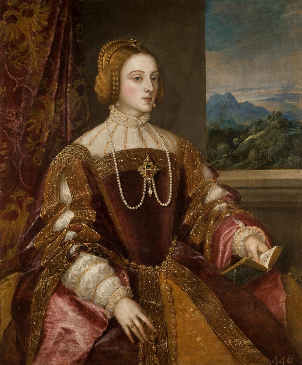Tiziano Vecellio. La emperatriz Isabel de Portugal. 1548. Museo Nacional del Prado. Madrid.