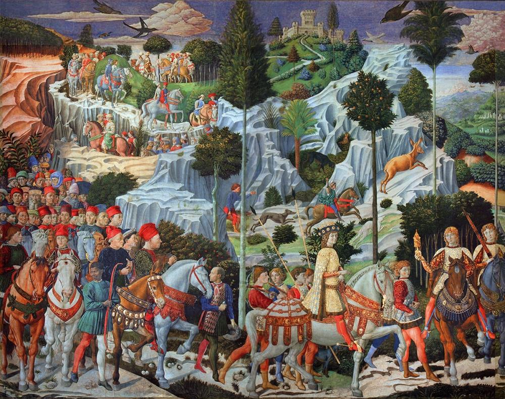 Benozzo Gozzoli. Capilla de los Magos. 1459-1462. Palacio Medici-Ricardi. Florencia.