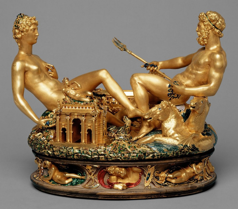 Benvenuro Cellini. Salero de Francisco I. 1540-1543. Kunsthistorisches Museum. Viena.