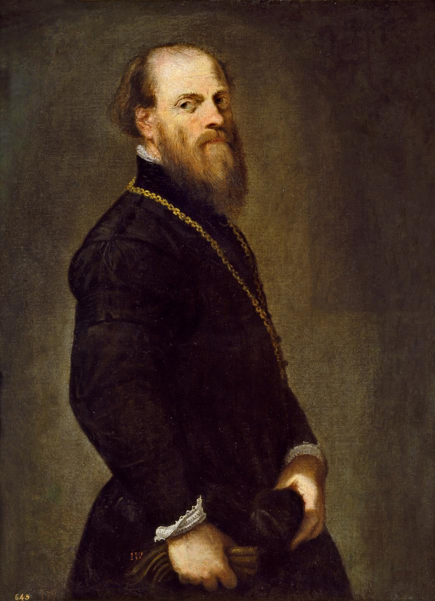 Jacopo Robusti. Tintoretto. El caballero de la cadena de oro. Hacia 1555. Museo Nacional del Prado.
