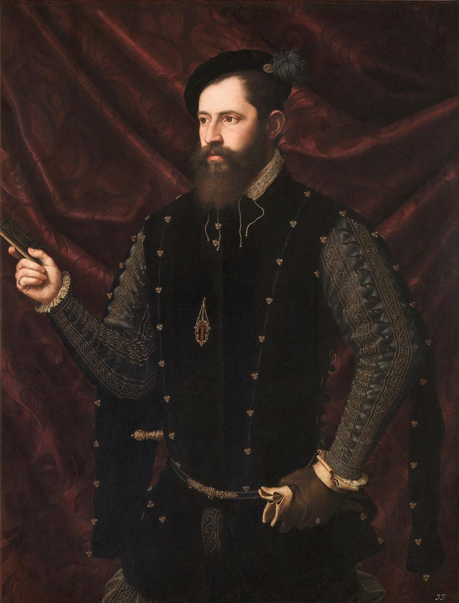 Juan de Juanes. Retrato de un caballero santiaguista. Hacia 1560. Museo Nacional del Prado.