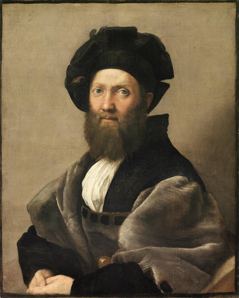 Rafael Sanzio. Batasar de Castiglione. 1514-1515. Museo del Louvre.