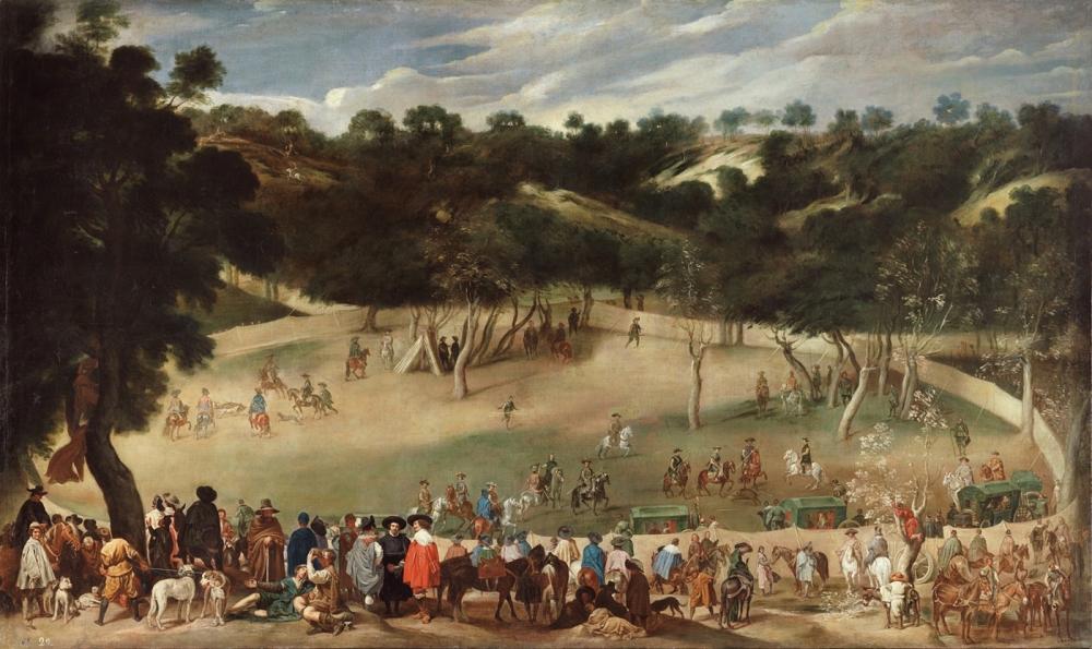 Diego Velázquez (copia de). Cacería de jabalíes en el Hoyo. Segunda mitad del siglo XVII. Museo Nacional del Prado.