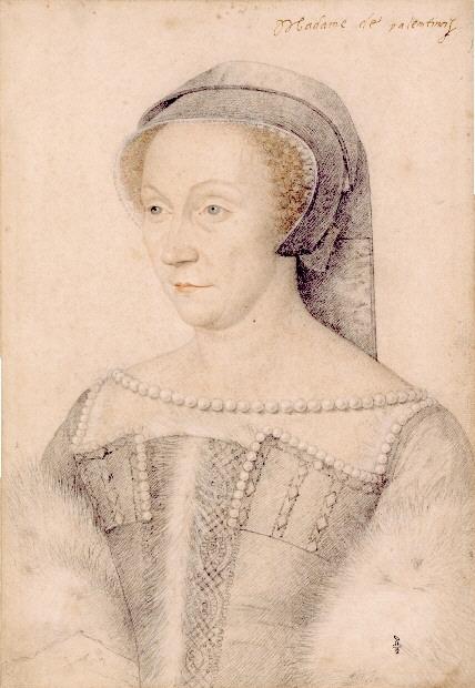 Taller de François Clouet. Diana de Poitiers. Mediados del siglo XVI. Musée Condé. Castillo de Chantilly. Chantilly.