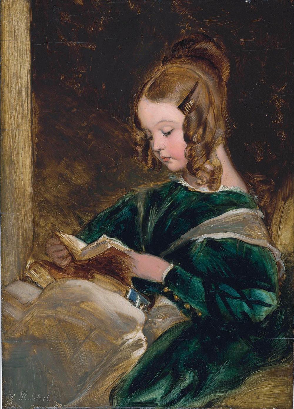 Edwin Henry Landseer. Boceto de Lady Evelyn Rachel  Russell. 1835. Colección particular.