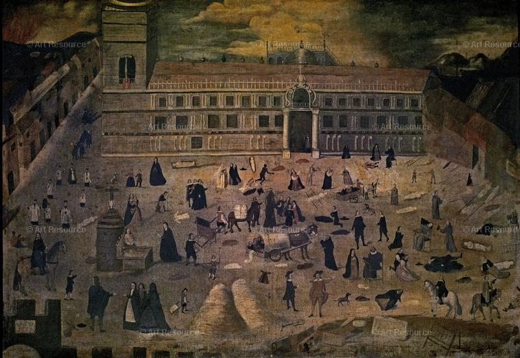 Anónimo. La Peste. 1649. Hospital del Pozo Santo. Sevilla.