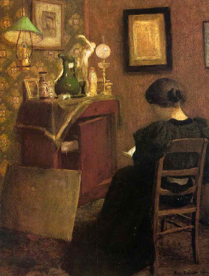 Henri Matisse. Mujer leyendo. 1894. Museo de Arte Moderno. París.