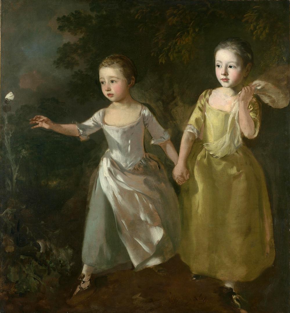 Tomas Gainsborough. Las hijas del pintor persiguiendo a una mariposa. Hacia 1756. National Gallery. Londres.