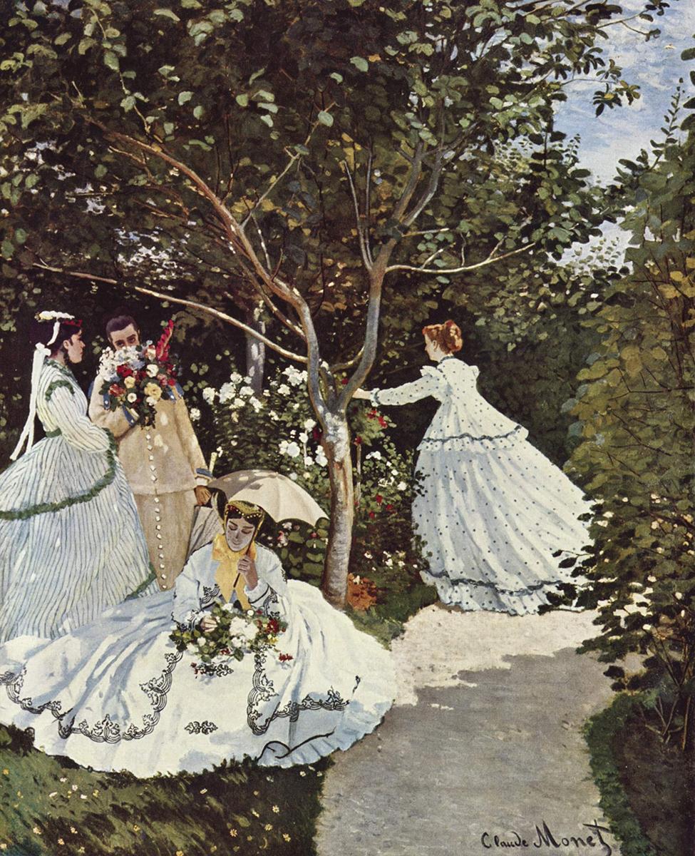 Claude Monet. Mujeres en el jardin. Hacia 1866. Museo d´Orsay. Paris.