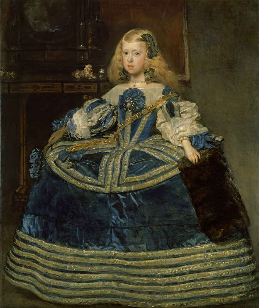 Diego Velázquez. La infanta Margarita de azul. 1659. Kunsthistorisches museum. Viena.