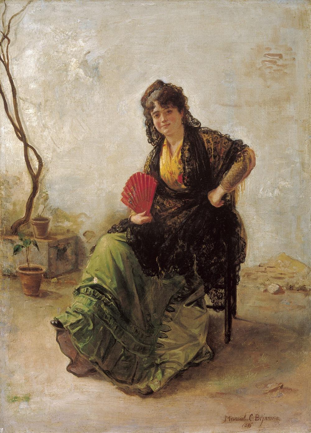 Manuel Cabral Aguado Bejarano. Maja con abanico rojo. 1885.Colección Carmen Thyssen-Bornemisza. Málaga.