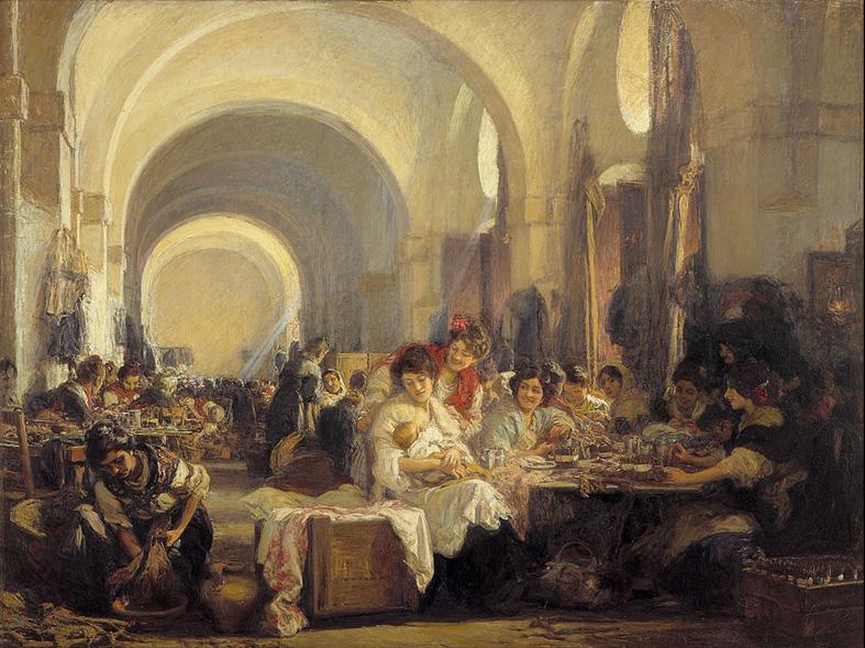 Gonzalo Bilbao. Las cigarreras . 1915. Museo de Bellas Artes. Sevilla.