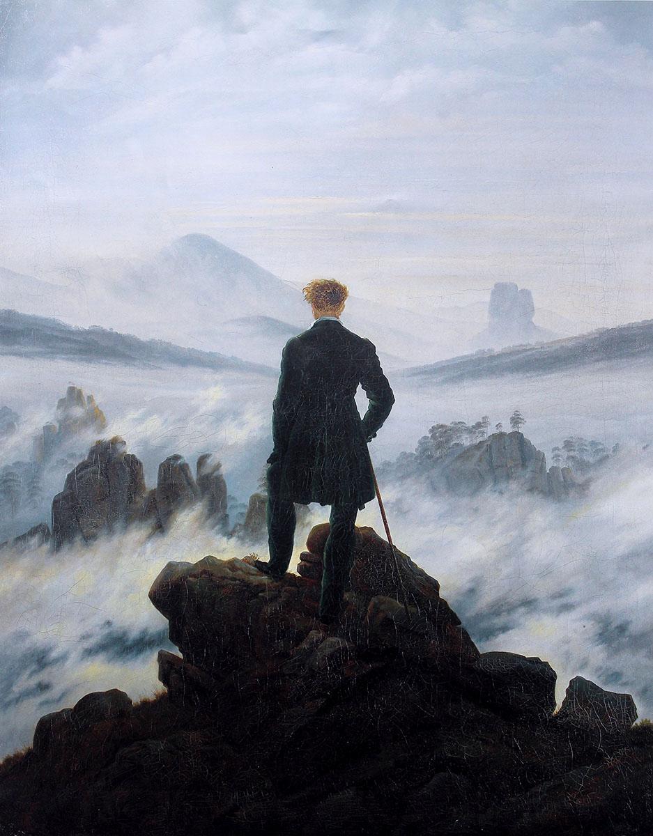 Caspar David Friedrich. El caminante sobre el mar de nubes. Kunsthalle Hamburg.Caspar David Friedrich. El caminante sobre el mar de nubes. Kunsthalle Hamburg.