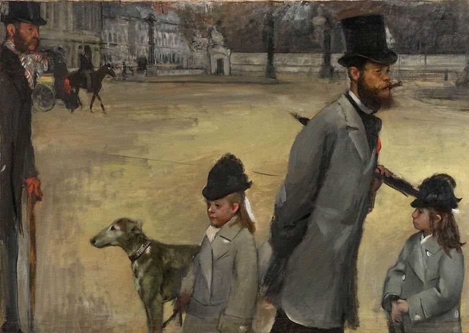 Edgar Degas. Place de la Concorde. 1875. Museo del Hermitage.
