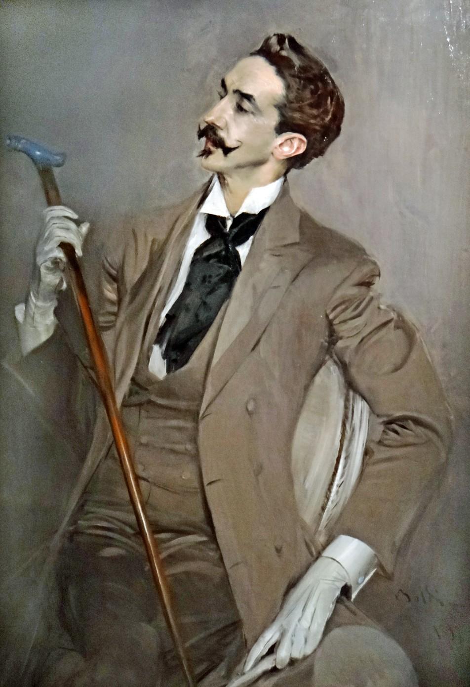 Giovanni Boldini. El conde Robert de Montesquiou. 1897. Museo d´Orsay. Paris.
