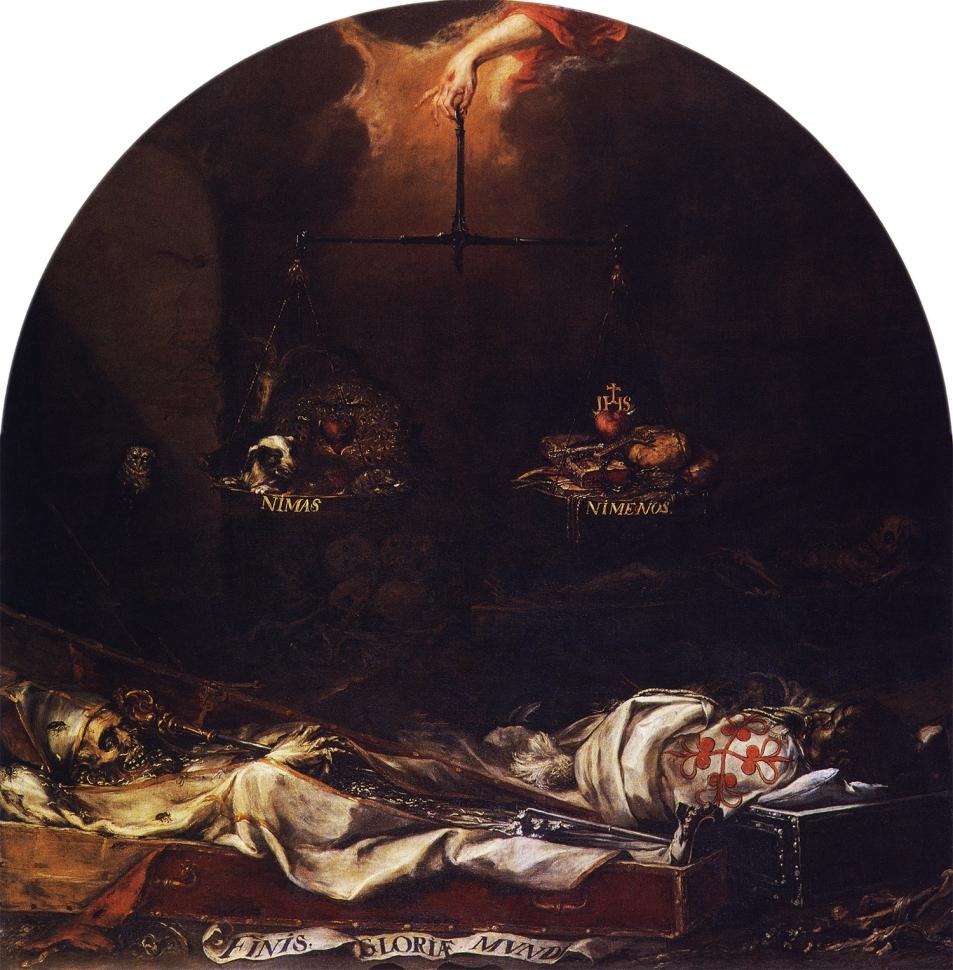 Juan Valdés Leal. Finis Gloriae Mundi. 1670-1672. Iglesia de San Jorge. Hospital de La Caridad. Sevilla.