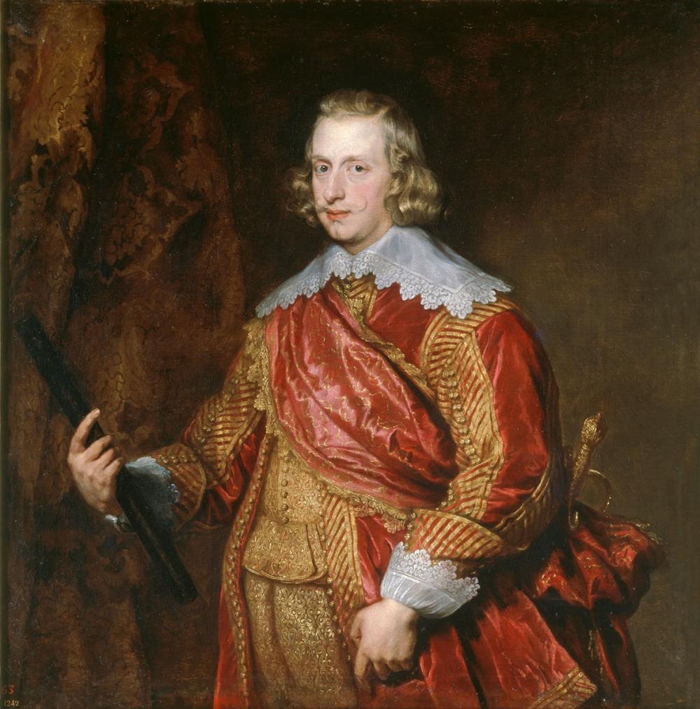 Anton Van Dyck. El Cardenal-Infante Fernando de Austria. Hacia 1634. Museo Nacional del Prado. Madrid. El hermano de Felipe IV luce una valona guarnecida de encajes.