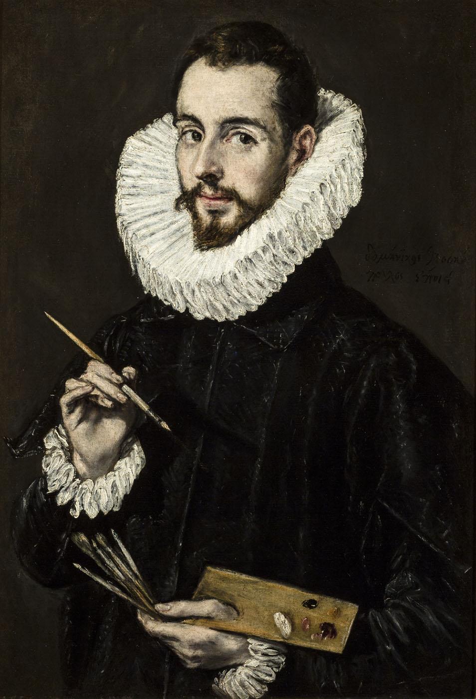 El Greco. Retrato del pintor y arquitecto Jorge Manuel Theotokopulos.1600-1650. Museo de Bellas Artes de Sevilla.