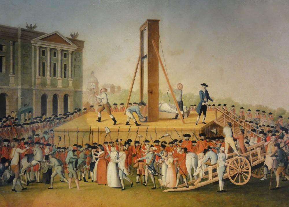 Anónimo. Ejecución de Maria Antonieta el 16 de octubre de 1793.