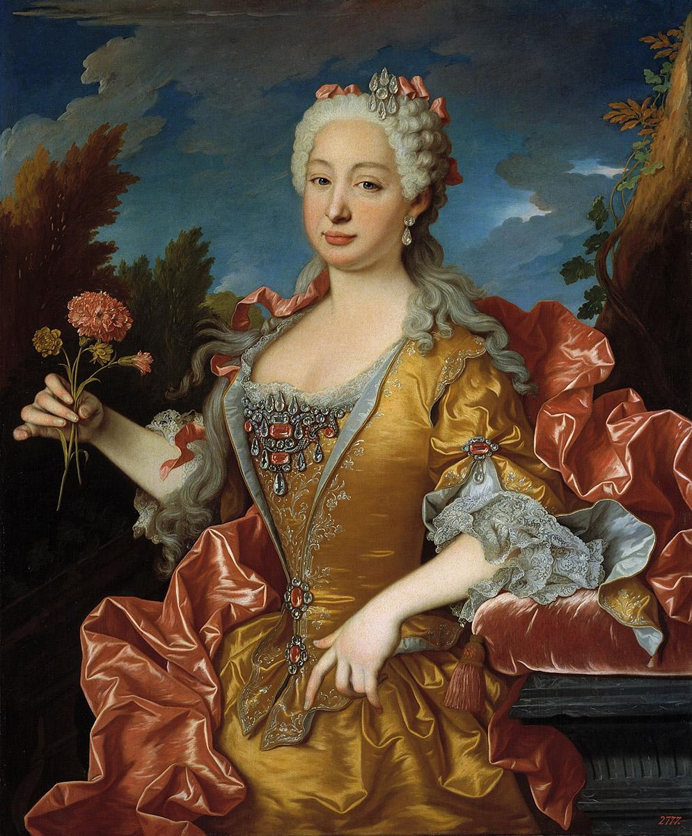 Jean Ranc. Bárbara de Braganza, reina de España. Hacia 1729. Museo Nacional de Prado. Madrid.
