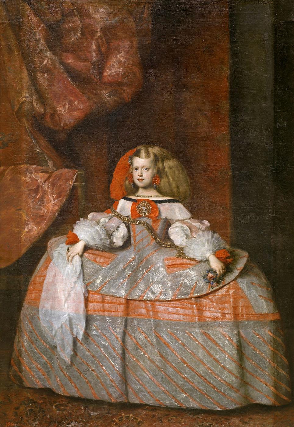 Juan Bautista Martínez del Mazo. La infanta doña Margarita de Austria. Hacia 1665. Museo Nacional del Prado. Madrid.