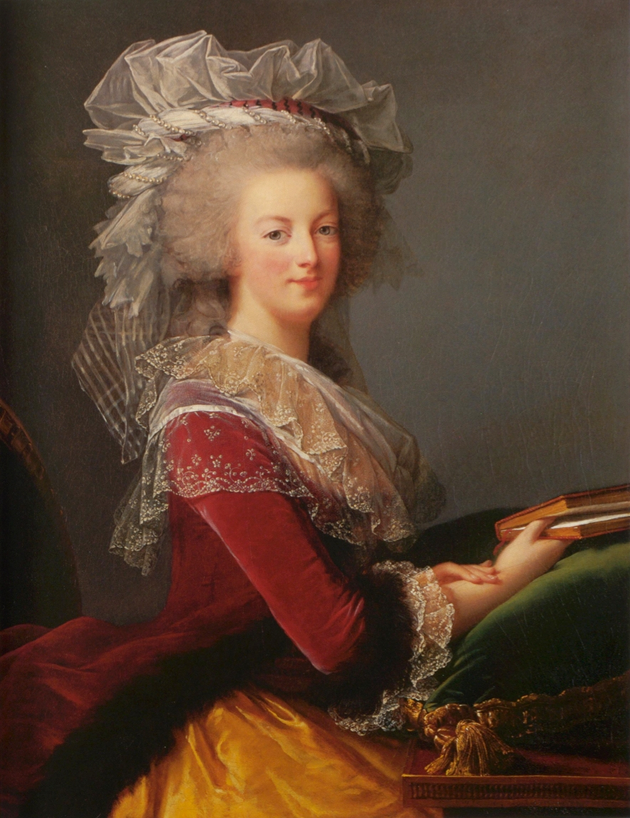 Marie Louise Élisabeth Vigée Lebrun. Retrato de María Antonieta pintada en 1785 para el ministerio de asuntos exteriores. Colección Particular.