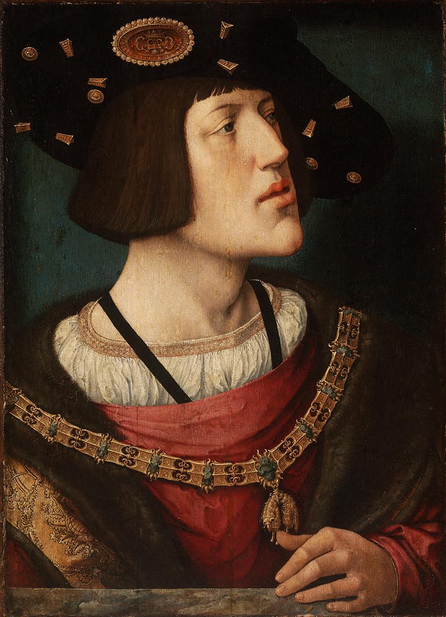 Barend van Orley.  Carlos I de España.  Hacia 1515-1516. Museo de Bellas Artes de Budapest.