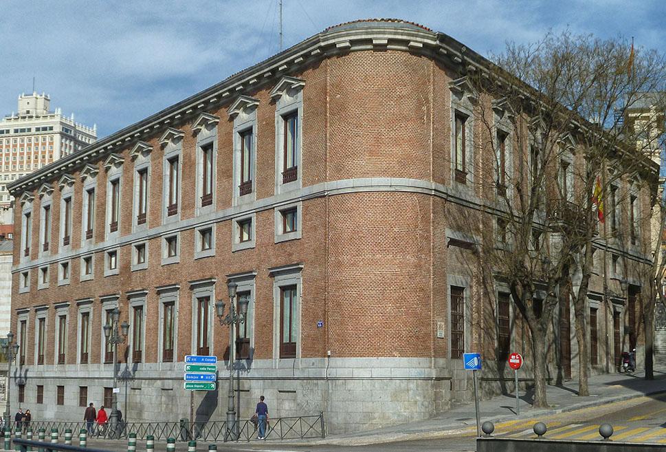 Palacio del Marqués de Grimaldi. Actual sede del Centro de Estudios Constitucional.