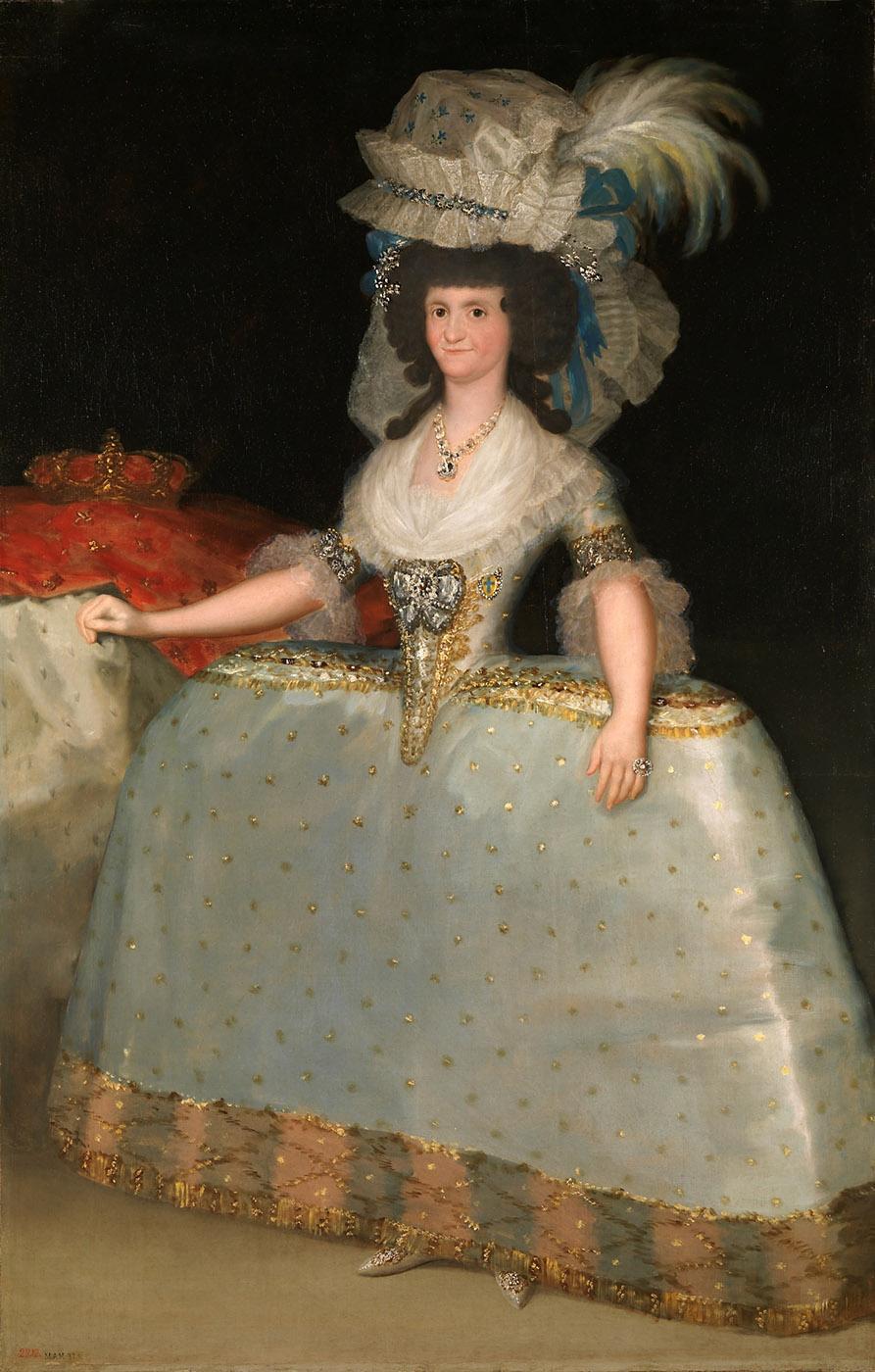 Francisco de Goya. La reina María Luisa con tontillo. 1789. Museo Nacional del Prado. Madrid.