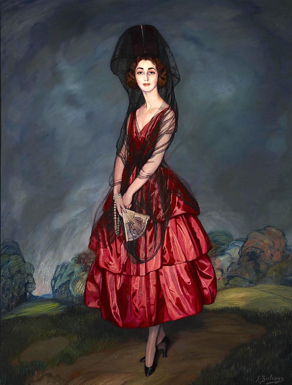 Ignacio Zuloaga. Doña María del Rosario de Silva y Gurtubay, XVII duquesa de Alba. Palacio de Liria. Madrid.