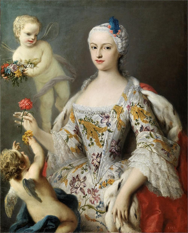 Jacopo Amigoni. La infanta María Antonia Fernanda de Borbón. Hacia 1750. Musseo Nacional del Prado. Madrid.