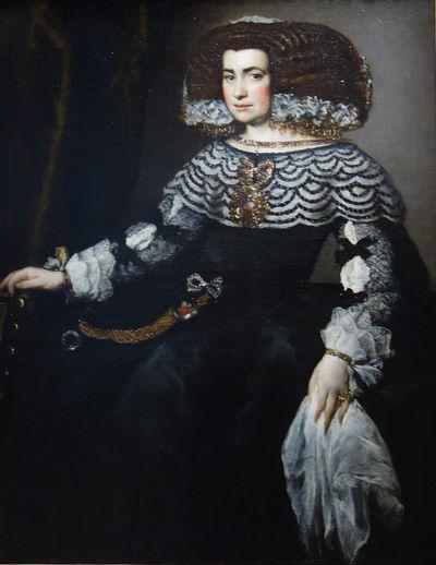 Juan Bautista Martínez del Mazo. Retrato de dama. Hacia 1655. Museo del Louvre.