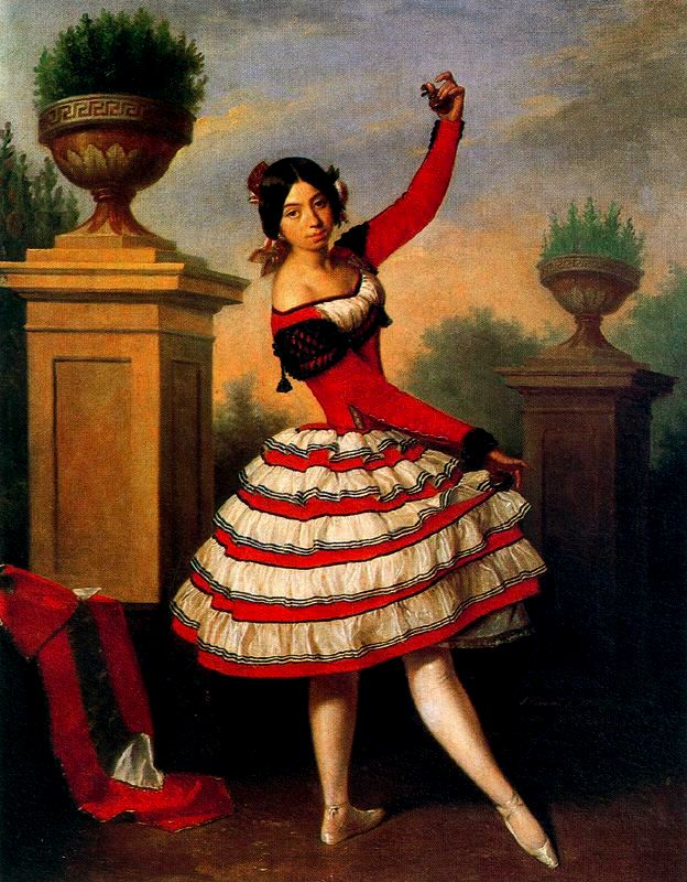 Antonio María Esquivel. La bailaora Josefa Vargas. 1840. Colección duque de Alba.