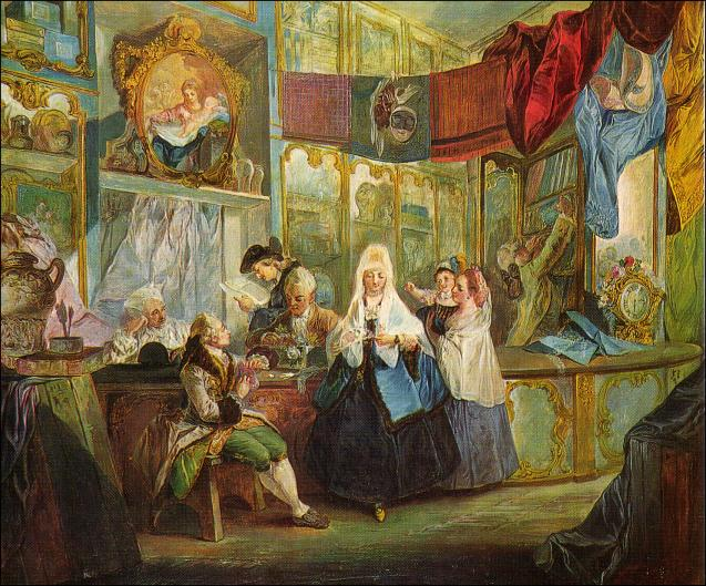 Luis Paret y Alcázar. La tienda del anticuario. 1772. Museo Lázaro Galdiano. Madrid.
